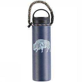United by Blue Drinkfles Field Guide 22oz Stainless Steel - Blauw