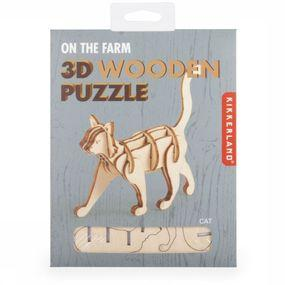 Kikkerland Gadget Mini 3d Wooden Puzzles Bruin