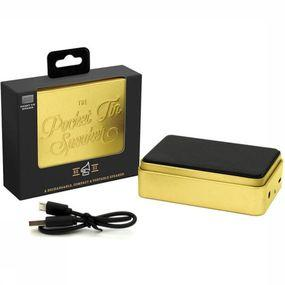Gadget Pocket Tin Speaker Gold