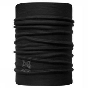 Buff Neckwarmer Wool Rev Black