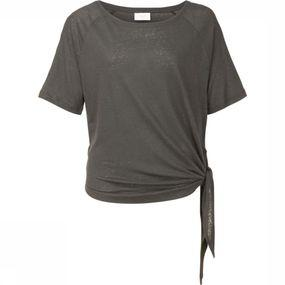 T-Shirt Linen Ss With Knot Detail