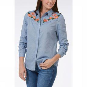 Chemise Tropical Flamingo Cowboy