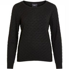Object Trui Carola Ls Knit Noos voor dames – Zwart