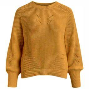 Object Trui April Ls Knit voor dames – Geel