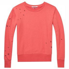 Pull Crew Neck Sweat With Rich Embroideries