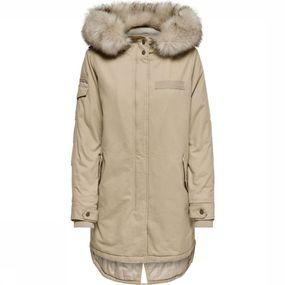 ONLY Jas May Fur Canvas Parka Cc Otw voor dames - Wit