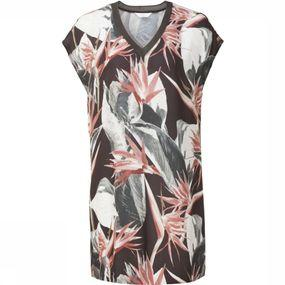 Dress Woven Jungle Flower Print