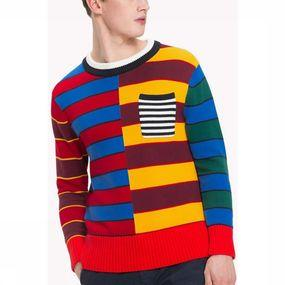 Trui Abstract Block Stripe