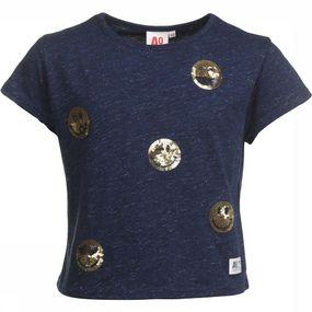 T-Shirt Short Glitter Smilies