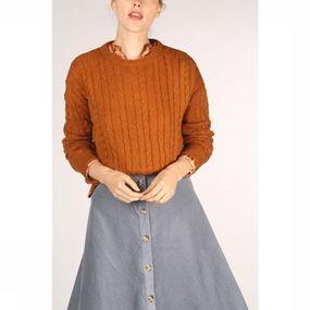 Soft Rebels Trui Calby O Neck voor dames – Oranje