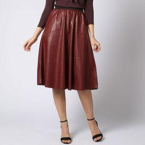 Skirt Onlline Faux Leather Midi