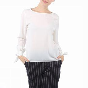 Blouse Sfcaria Ls Sleeve Tie Top
