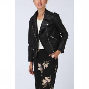 Blazer Summer Faux Leather Crop Bike