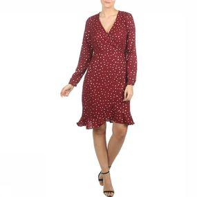 Dress Vmhenna Dot Foil Longsleeve Wrap