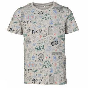 Name It T-shirt Mkasim voor jongens – Grijs