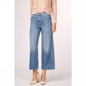 ONLY Jeans Madison Hw Wide Crop Denim voor dames – Blauw