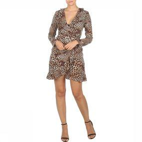 DRESS VIL VIKACY LS WRAP DRESS