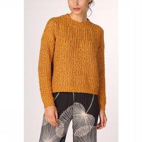 Object Trui Ruby Gala Ls Knit voor dames – Geel