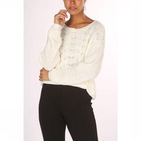 Vila Trui Chloa Knit L/s voor dames – Wit