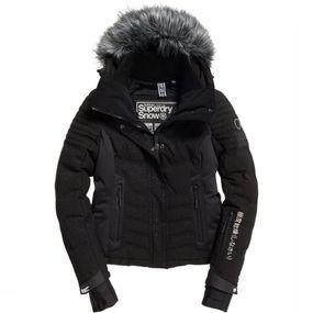Superdry Jas Luxe Snow Puffer voor dames - Zwart