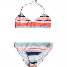 Roxy Bikini Happy Bralette Stripe voor meisjes - Wit