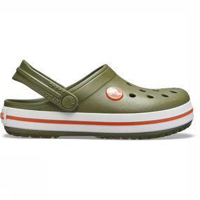 Crocs Slipper Crocband voor kinderen Kaki