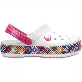 Crocs Slippercband Gallery Clog voor meisjes Wit