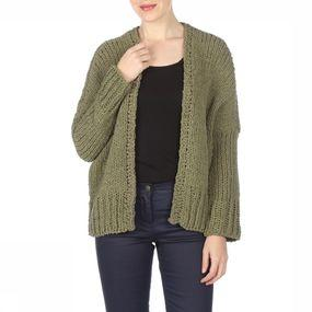 Cardigan Half Long Balloon Cardigan