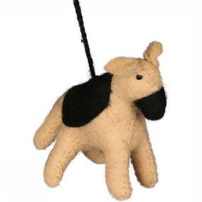 Accessoire Hanging Woolen Dog Small
