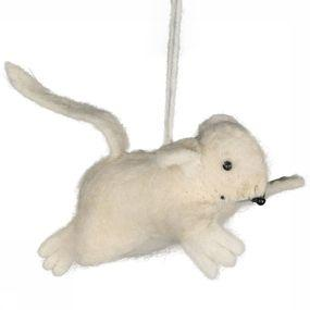 Accessoire Hanging Woolen Mouse Small
