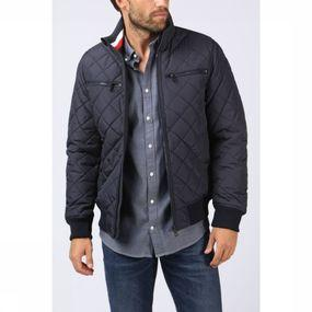 Manteau Striped Rib Quilted Bomber