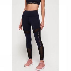 Superdry Legging Active Studio Mesh Leggings voor dames - Blauw