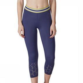Skiny Capri Ladies 3/4 Running voor dames - Blauw