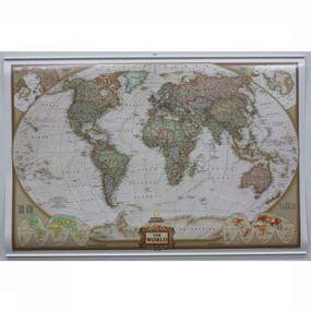 World pol. antique laminated with hanging strips