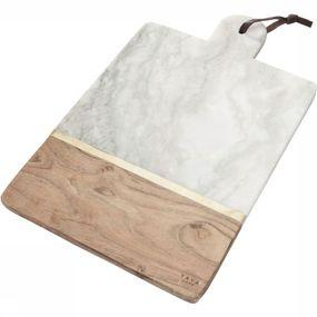 Servies Marble Trencher With Wood - Large
