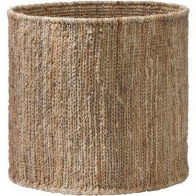 Round Handwoven Hemp Basket - Medium