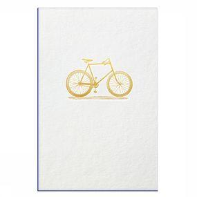 Wenskaart Gold Fever Big Bicycle