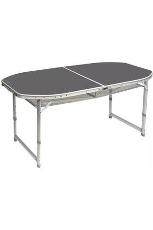 Bo-Camp Table Ovaal Koffermodel 150X80 Cm Gris Moyen