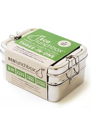 Ecolunchbox Pot Three-In-One silver
