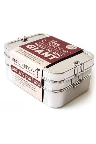Ecolunchbox Pot Three-In-One Giant silver
