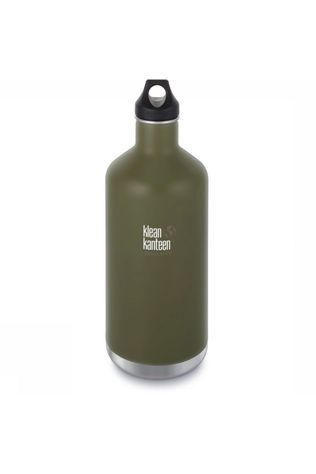 Klean Kanteen Isolation Bottle Classic Insulated 64oz Loop dark green