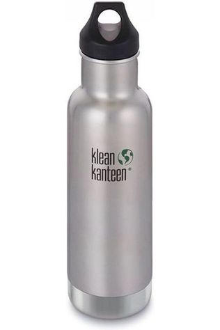 Klean Kanteen Isolatiefles Classic Vacuum Insulated 20Oz 592Ml Loop Zilver