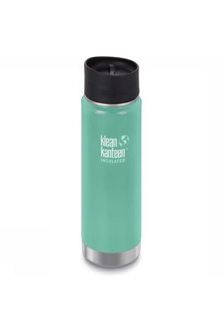 Klean Kanteen Bouteille Isolante Wide Vacuum Insulated 20Oz 592Ml Cafe Cap 2.0 Vert Clair