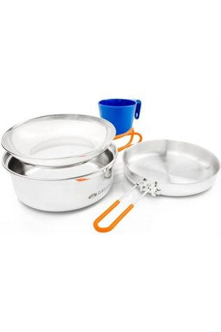 GSI Outdoors Pot Glacier Stainless 1 Person Mess Kit Geen kleur / Transparant