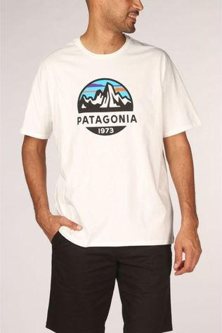 Patagonia T-Shirt Fitzroy Scope Blanc