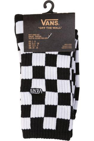 Vans SOCK VANS BY CHECKERBOARD CREW BOYS  black/white