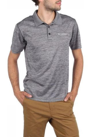 Columbia Polo Zero Rules Donkergrijs Mengeling
