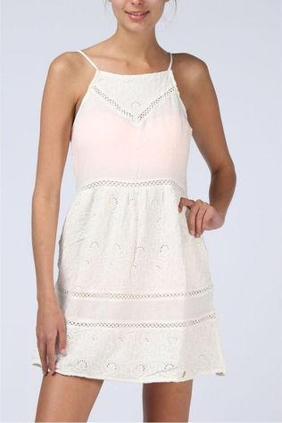 Superdry Dress Sup Lilah Schiffli off white