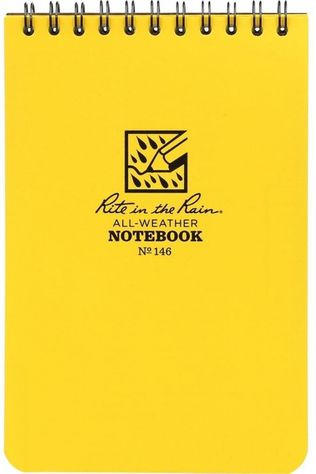 Rite In The Rain Gadget 4*6 Notebook With Header Hangtag Middengeel
