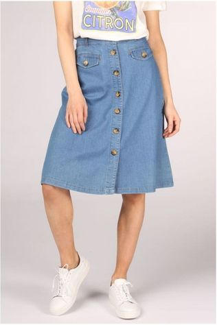 King Louie Skirt Caroll Chambray mid blue